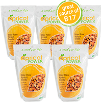 Bitter Raw Apricot Seeds, 10 lbs