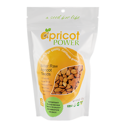 Bitter Raw Apricot Seeds, 8 oz.