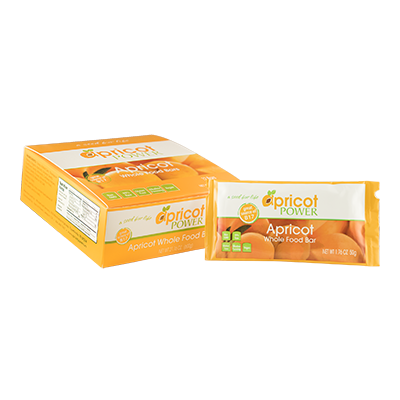 Apricot Whole Food Bars - box of 12