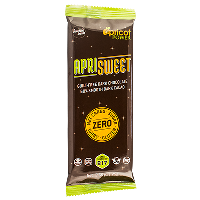 ApriSweet Dark Chocolate Bar - New and Improved!