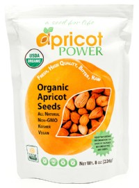 Organic Bitter Raw Apricot Seeds - 8 oz.