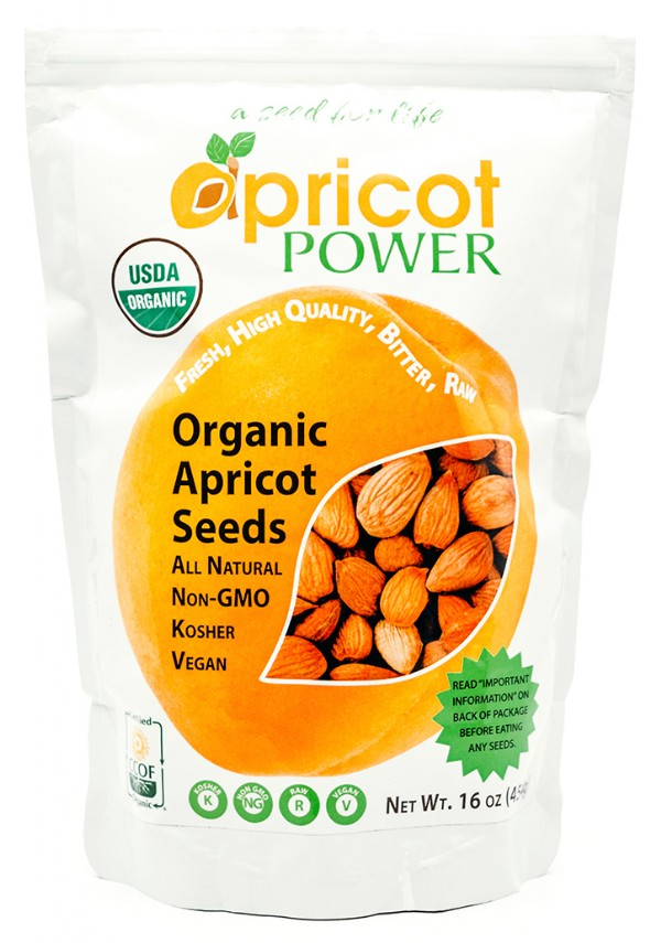 Organic Bitter Raw Apricot Seeds - 16 oz.