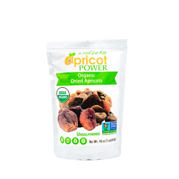 Organic Dried Apricots - 16 oz.