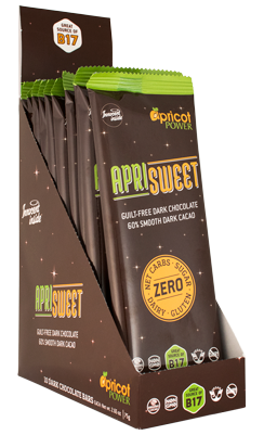 ApriSweet Dark Chocolate - 10 Pack